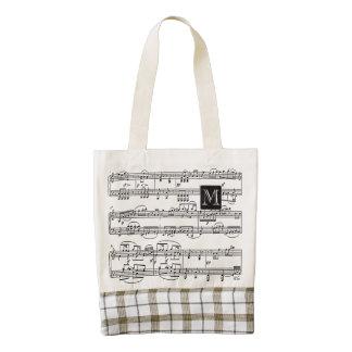 notas musicales personalizadas bolsa tote zazzle HEART