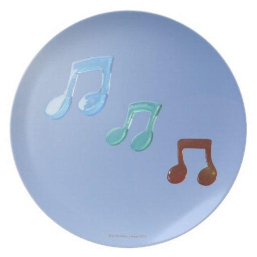 Notas musicales platos para fiestas