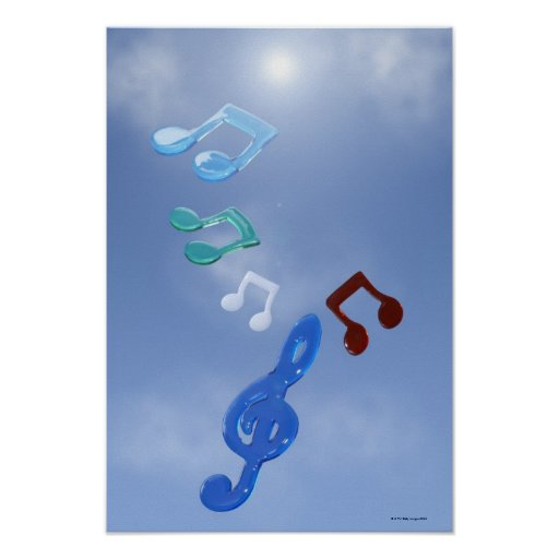 Notas musicales posters