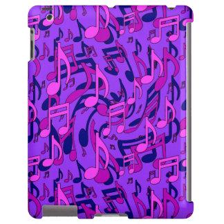 Notas musicales púrpuras de la música del rosa del