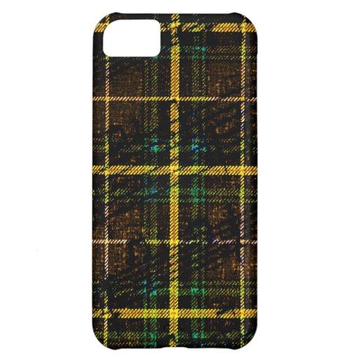 Notas musicales sobre la tela escocesa amarilla