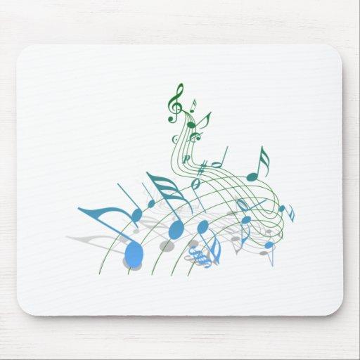 Notas musicales tapete de ratones