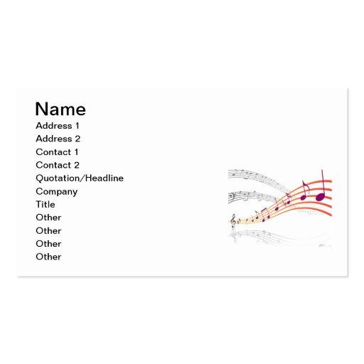 Notas musicales tarjetas de visita