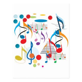 Notas musicales tarjetas postales