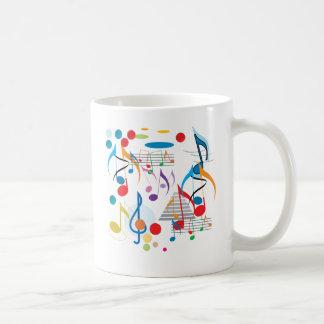 Notas musicales tazas