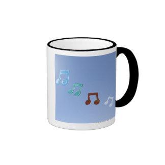Notas musicales taza de dos colores