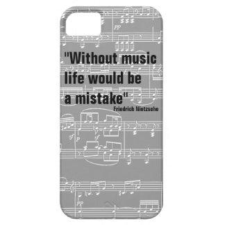 notas musicales y cita música-temática funda para iPhone 5 barely there
