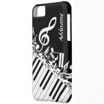 Notas musicales y llaves embarulladas personalizad funda para iPhone 5C