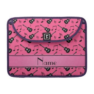 Notas negras rosadas conocidas de encargo de la fundas para macbook pro