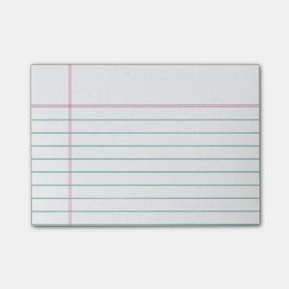 Notas pegajosas alineadas personalizable del papel nota post-it