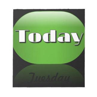 Notas pegajosas de martes del calendario del día l libretas para notas