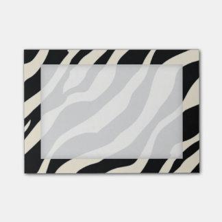 Notas pegajosas del estampado de zebra adaptable notas post-it