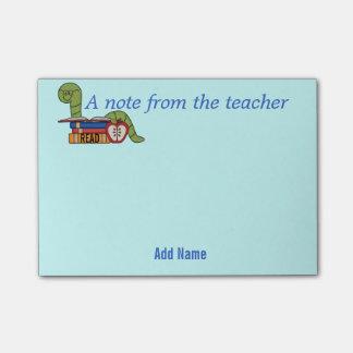 Notas pegajosas del ratón de biblioteca para los nota post-it®