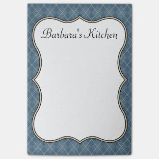 Notas personalizadas azul de la cocina notas post-it®
