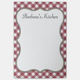 Notas personalizadas de la cocina del país post-it® notas