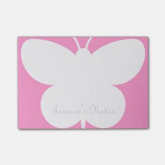 Notas personalizadas del Poste-it® con la mariposa