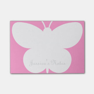 Notas personalizadas del Poste-it® con la mariposa Notas Post-it
