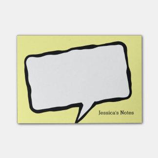 Notas personalizadas del Poste-it® del amarillo de Post-it Nota