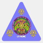 Notas Plse de la opinión del estilo 2 de la reina Pegatina Triangular