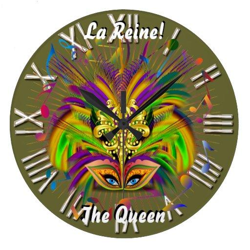 Notas Plse de la opinión del estilo 3 de la reina  Reloj Redondo Grande