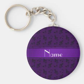 Notas púrpuras conocidas personalizadas de la llavero redondo tipo pin