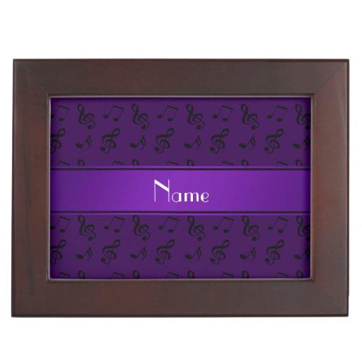 Notas púrpuras conocidas personalizadas de la músi cajas de recuerdos