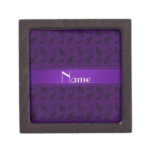 Notas púrpuras conocidas personalizadas de la músi cajas de regalo de calidad