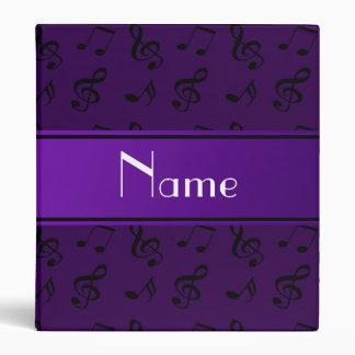 Notas púrpuras conocidas personalizadas de la músi