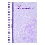 Notas púrpuras y Keys_Invitation de la música Invitacion Personalizada