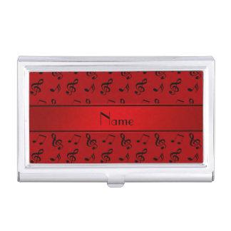 Notas rojas conocidas personalizadas de la música cajas de tarjetas de negocios