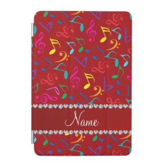 Notas rojas conocidas personalizadas de la música cubierta de iPad mini