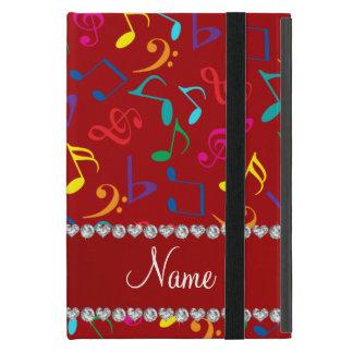 Notas rojas conocidas personalizadas de la música iPad mini carcasa