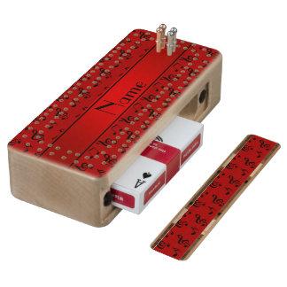 Notas rojas conocidas personalizadas de la música cribbage de arce