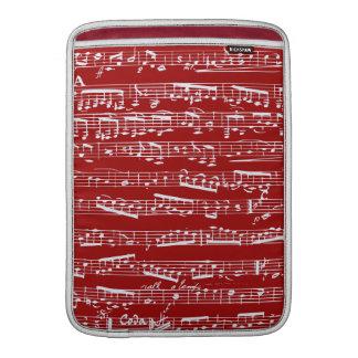 Notas rojas de la música fundas MacBook