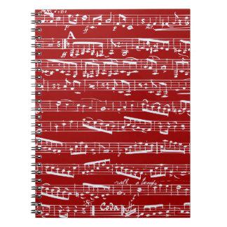 Notas rojas de la música libretas