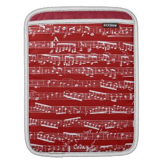 Notas rojas de la música manga de iPad