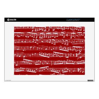 Notas rojas de la música portátil 38,1cm skins