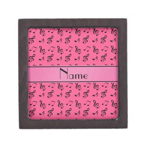 Notas rosadas conocidas personalizadas de la músic caja de regalo de calidad