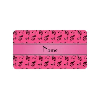 Notas rosadas conocidas personalizadas de la músic etiqueta de dirección
