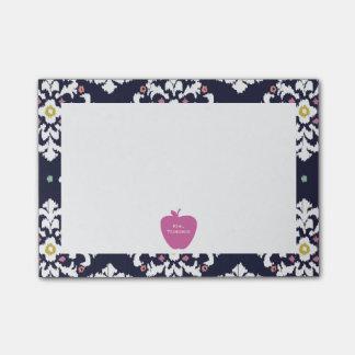 Notas rosadas del Poste-it® del profesor de Apple Nota Post-it®