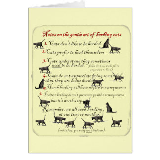 Notas sobre el arte apacible de reunir gatos