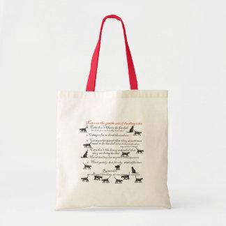 Notas sobre el arte apacible de reunir gatos bolsa tela barata