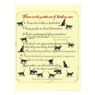 Notas sobre el arte apacible de reunir gatos postal