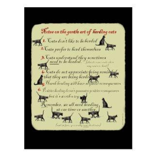 Notas sobre el arte apacible de reunir gatos tarjetas postales