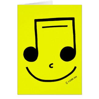 Notas sonrientes tarjeta de felicitación