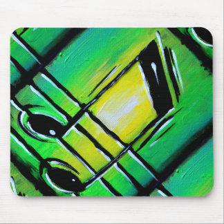 Notas verdes alfombrillas de ratón