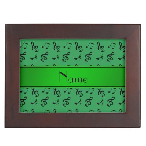 Notas verdes conocidas personalizadas de la música caja de recuerdos