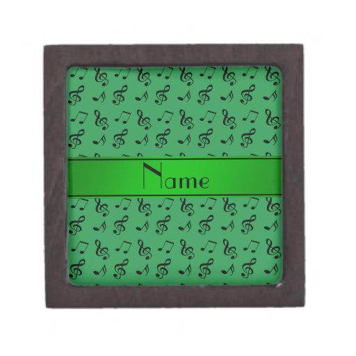 Notas verdes conocidas personalizadas de la música cajas de regalo de calidad