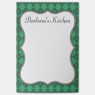 Notas verdes de la cocina notas post-it®