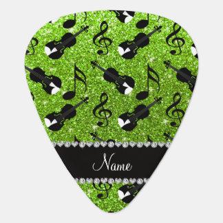 Notas verdes de neón conocidas de encargo de la plectro